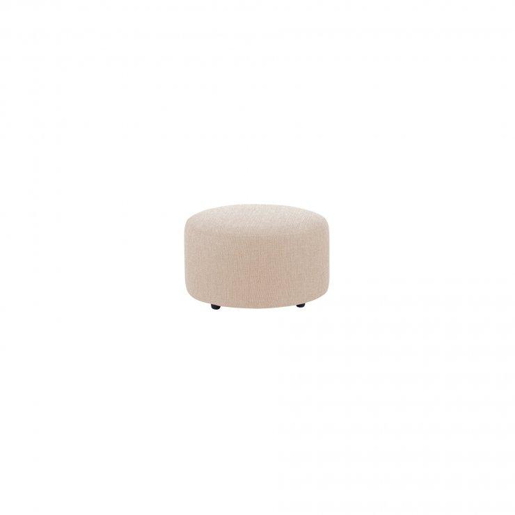 Jasmine Round Footstool in Cosmo Linen - Image 2