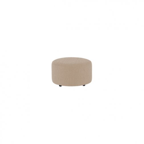 Jasmine Round Footstool in Cosmo Linen Taupe