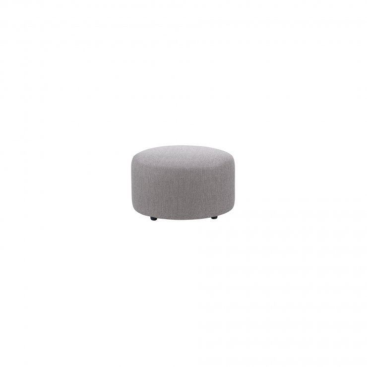 Jasmine Round Footstool in Cosmo Pewter - Image 2