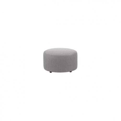Jasmine Round Footstool in Cosmo Pewter