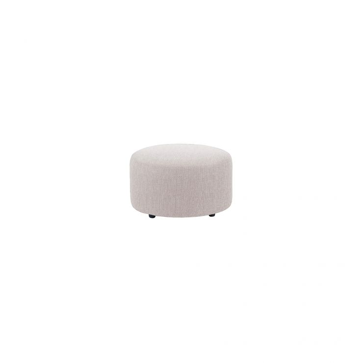 Jasmine Round Footstool in Cosmo Silver