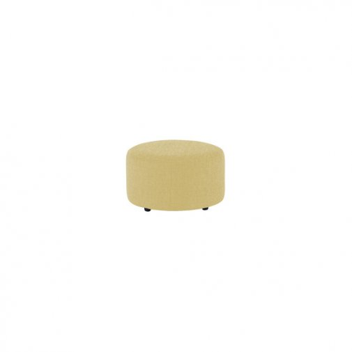 Jasmine Round Footstool in Grace Fabric - Lime