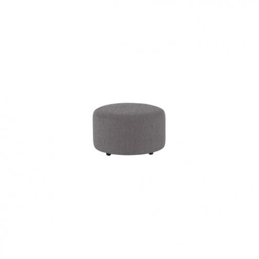 Jasmine Round Footstool in Grace Fabric - Pewter