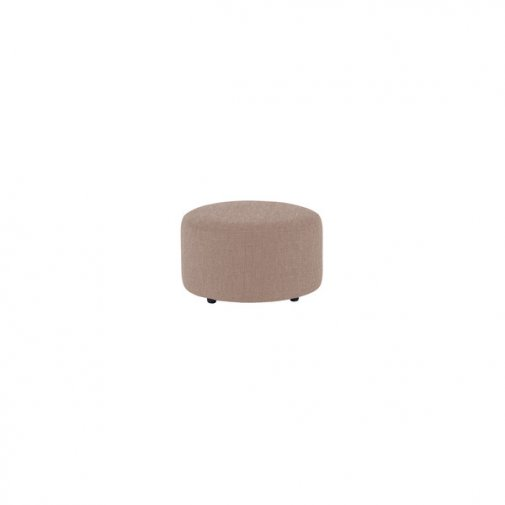 Jasmine Round Footstool in Grace Fabric - Taupe
