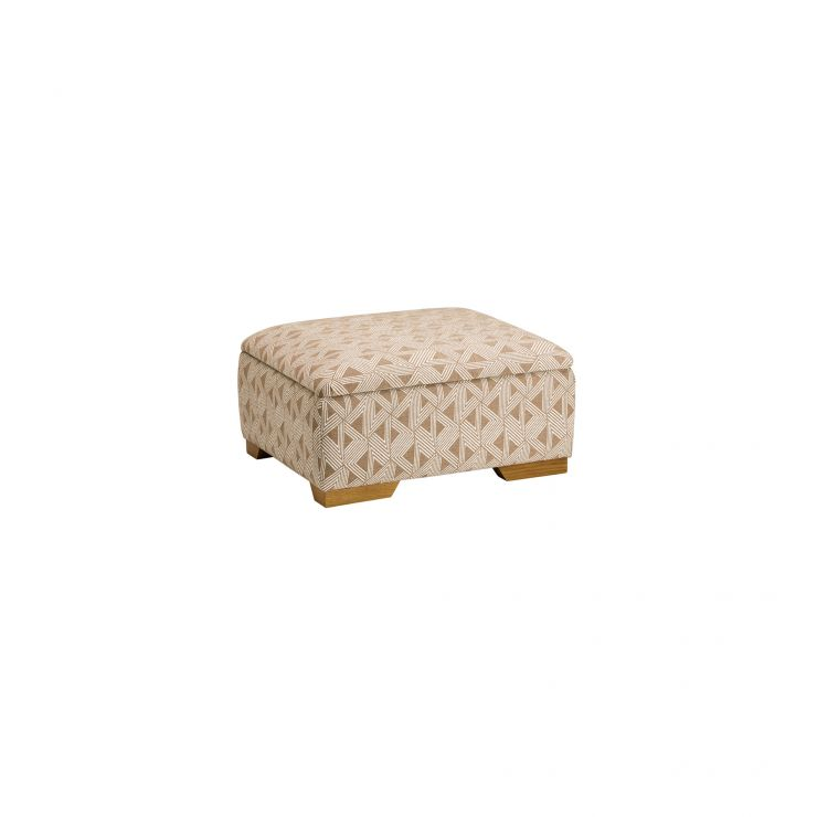 Jasmine Storage Footstool in Bamboo Taupe - Image 2