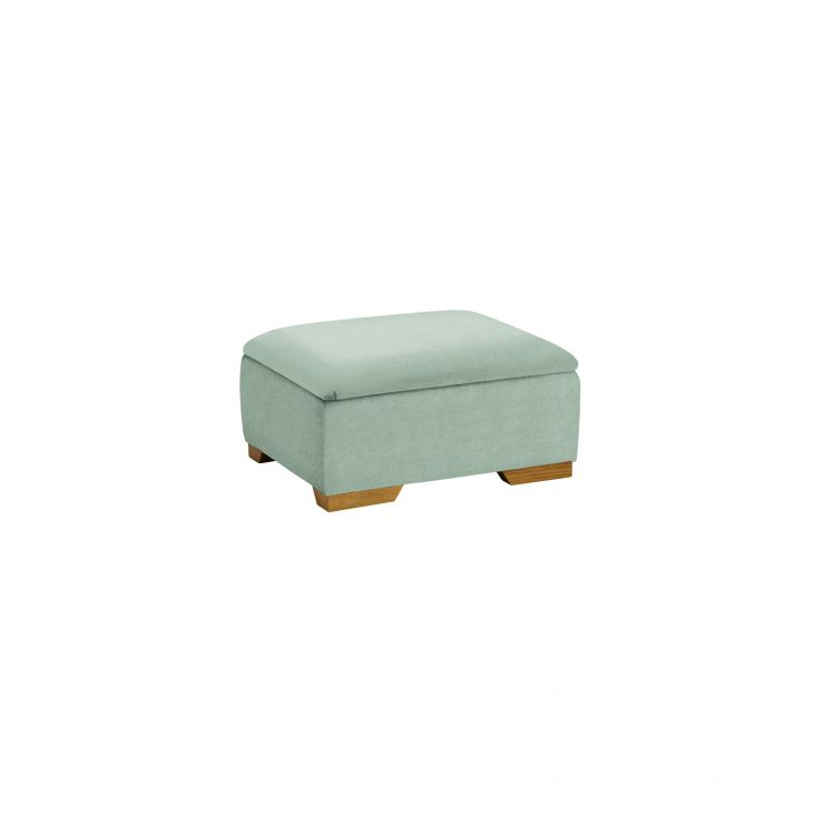 Jasmine Storage Footstool in Cosmo Duck Egg
