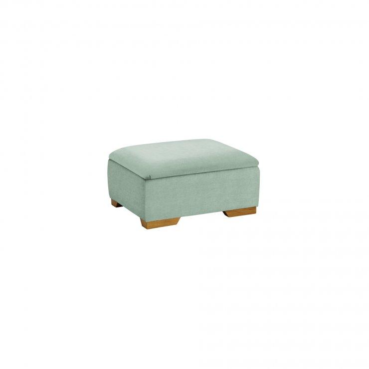 Jasmine Storage Footstool in Cosmo Duck Egg - Image 2