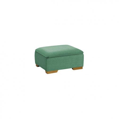 Jasmine Storage Footstool in Cosmo Jade