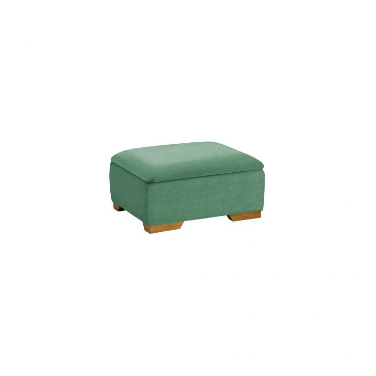 Jasmine Storage Footstool in Cosmo Jade - Image 2