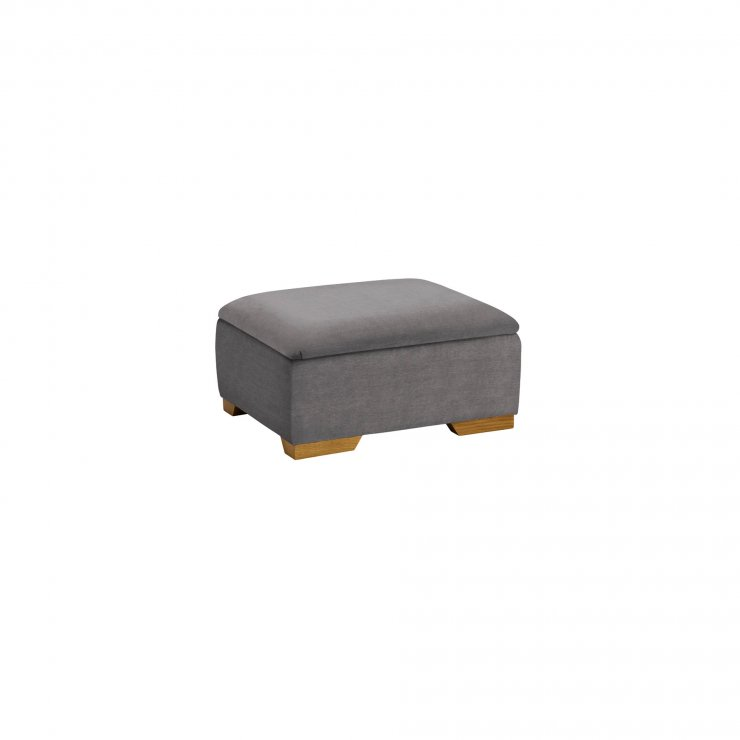 Jasmine Storage Footstool in Cosmo Pewter - Image 2