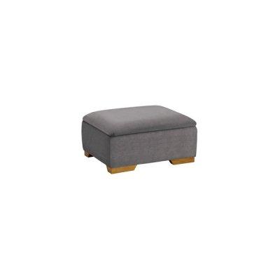 Jasmine Storage Footstool in Cosmo Pewter