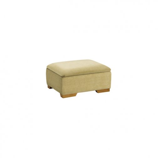 Jasmine Storage Footstool in Grace Lime