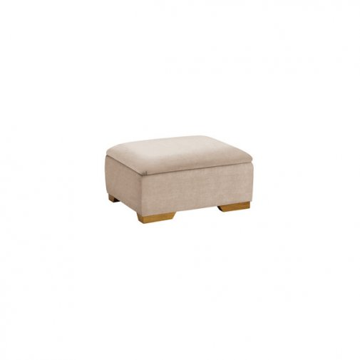 Jasmine Storage Footstool in Grace Linen
