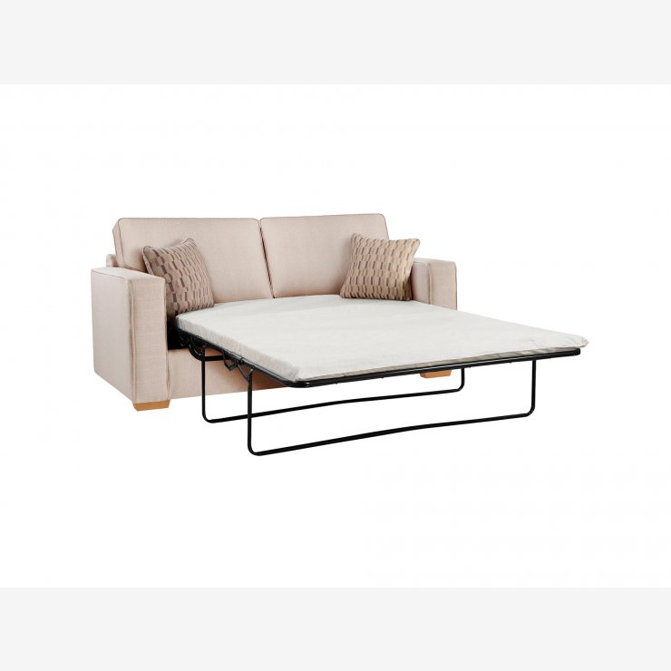Jasper 3 Seater Sofa Bed with Standard Mattress in Costa Linen with Natural Scatters
