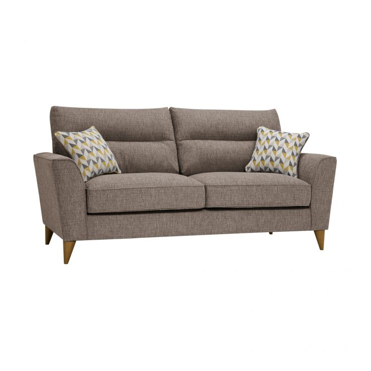 Jensen Beige 3 Seater Sofa with Zest Accent Cushions