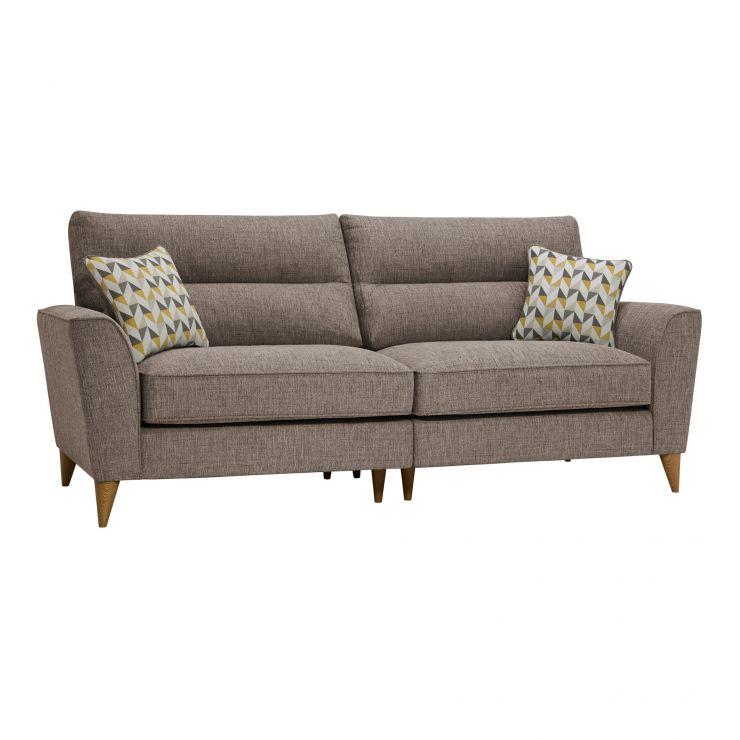 Jensen Beige 4 Seater Split Sofa with Zest Accent Cushions