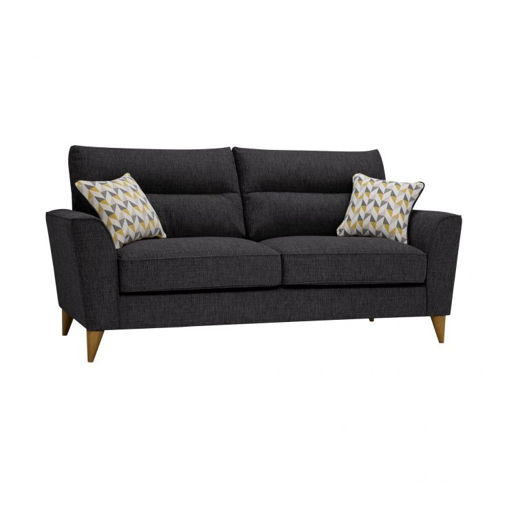 Jensen Black 3 Seater Sofa with Zest Accent Cushions