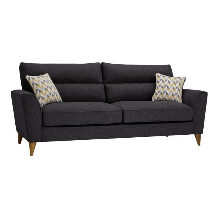 Jensen Black 4 Seater Sofa with Zest Accent Cushions