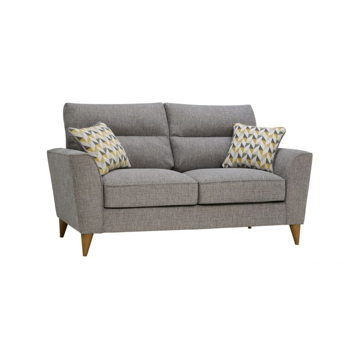 Jensen Silver 2 Seater Sofa with Zest Accent