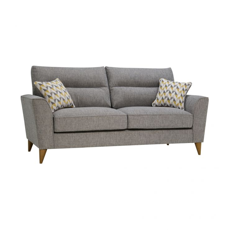 Jensen Silver 3 Seater Sofa with Zest Accent