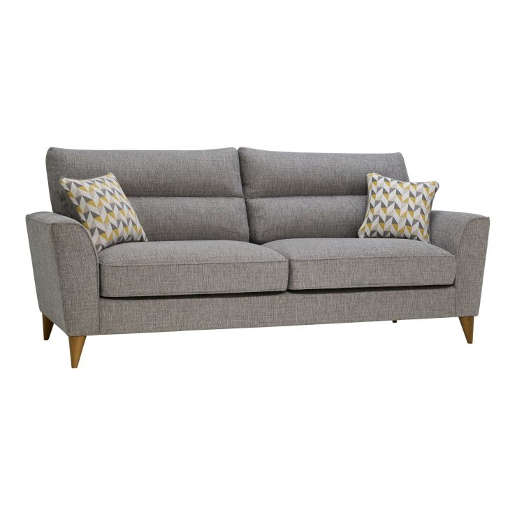 Jensen Silver 4 Seater Sofa with Zest Accent
