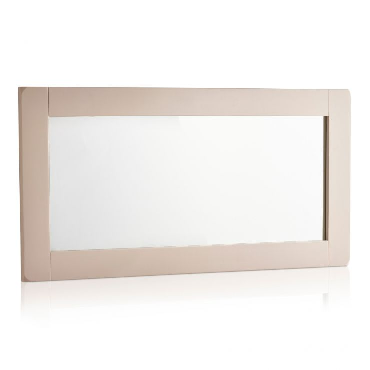Kemble Rustic Solid Oak and Painted 1200mm x 600mm Wall Mirror - Image 4