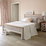"Kemble Rustic Solid Oak and Painted 4ft 6"" Double Bed - Thumbnail 3"