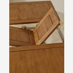 """Kemble Rustic Solid Oak and Painted 4ft 7"""" x 3ft Extending Dining Table & 6 Charcoal Kemble Chairs - Thumbnail 4"""