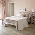 Kemble Rustic Solid Oak and Painted 5ft King-Size Bed - Thumbnail 2