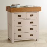 Kemble Rustic Solid Oak and Painted Baby Changer Dresser - Thumbnail 2
