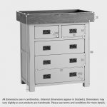 Kemble Rustic Solid Oak and Painted Baby Changer Dresser - Thumbnail 4