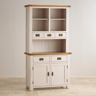 Kemble Rustic Solid Oak and Painted Small Dresser