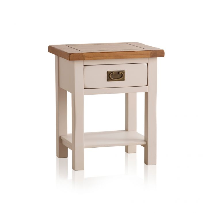 Kemble Rustic Solid Oak and Painted Lamp Table - Image 5