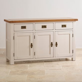 Kemble Rustic Solid Oak and Painted Large Sideboard