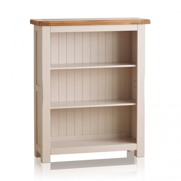 Kemble Rustic Solid Oak and Painted Small Bookcase - Image 3