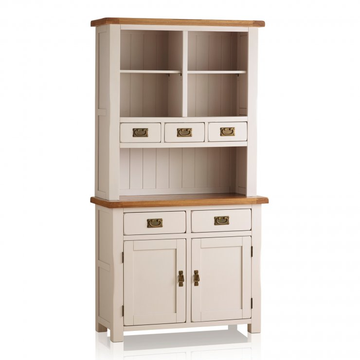 Kemble Rustic Solid Oak and Painted Small Dresser - Image 6