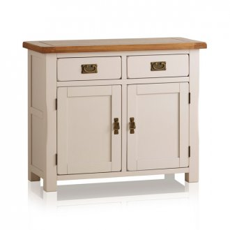 Kemble Rustic Solid Oak and Painted Small Sideboard