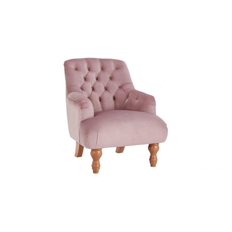 Kenwood Accent Chair in Blush Velvet