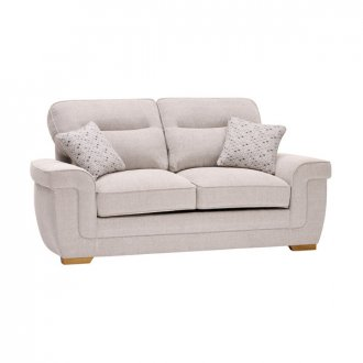Kirby 2 Seater Sofa - Frisco Silver with Slate Scatters