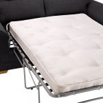 Kirby 2 Seater Sofa Bed with Deluxe Mattress - Frisco Charcoal with Slate Scatters - Thumbnail 6