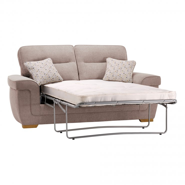 Kirby 2 Seater Sofa Bed with Deluxe Mattress - Frisco Natural with Honey Scatters - Image 7