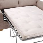 Kirby 2 Seater Sofa Bed with Deluxe Mattress - Frisco Natural with Honey Scatters - Thumbnail 6