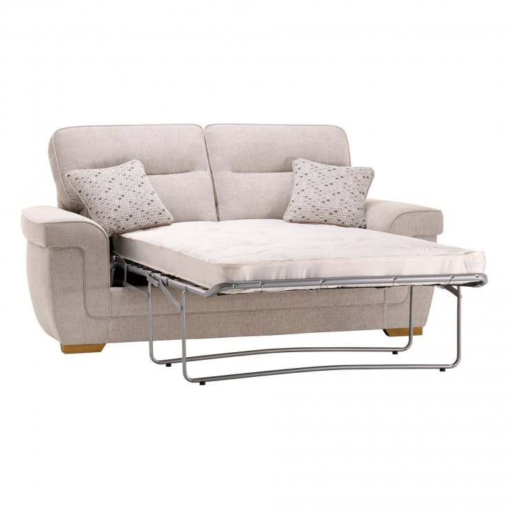 Kirby 2 Seater Sofa Bed with Deluxe Mattress - Frisco Silver with Slate Scatters - Image 7