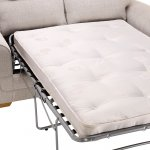 Kirby 2 Seater Sofa Bed with Deluxe Mattress - Frisco Silver with Slate Scatters - Thumbnail 6