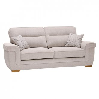 Kirby 3 Seater Sofa - Frisco Silver with Slate Scatters