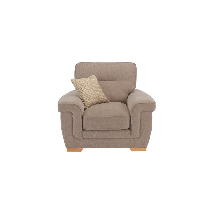 Kirby Armchair - Barley Beige with Rustic Oak Feet