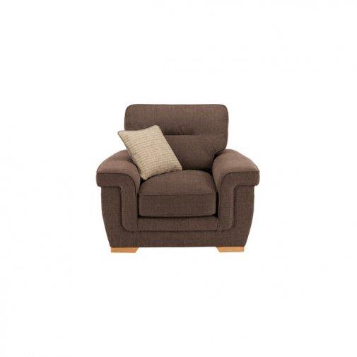 Kirby Armchair - Barley Mocha with Rustic Oak Feet