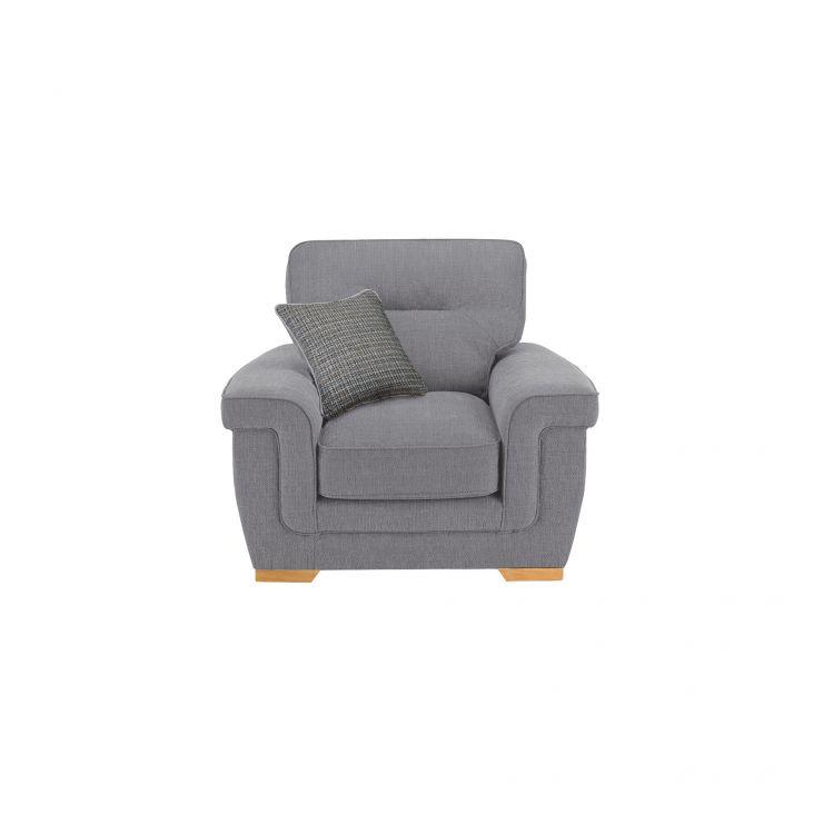 Kirby Armchair - Barley Silver with Rustic Oak Feet - Image 4