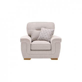 Kirby Chair in Frisco Silver with Slate Scatters