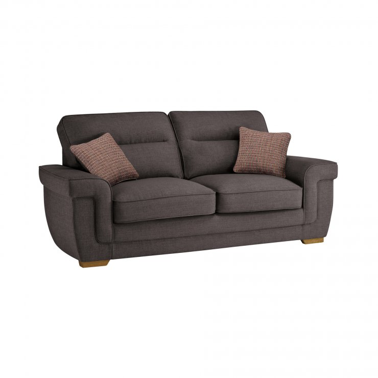 Kirby 3 Seater Sofa Bed with Deluxe Mattress in Barley Grey